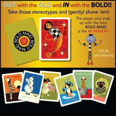 BOLD MAID Playing cards — $16.00