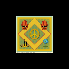 "Best of Luck and Beyond: Peace_matted 12"" x 12"" $90.00"