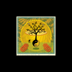 "Best of Luck and Beyond: Tree of Life_matted 12"" x 12"" $90.00"